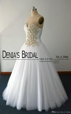 Crystal Wedding Dresses Vintage Ball Gown vestidos de novia Real Images With Major Beading in Leaves Shape Court Train Tulle Wedding Gowns