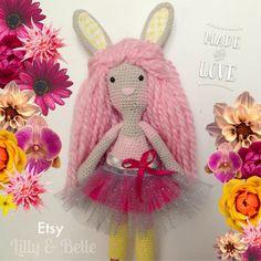 Crochet Doll  Bunny Ballerina  Amigurumi Rabbit by LillyAndBelle