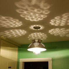 Leuk effect: vergiet aan het plafond.