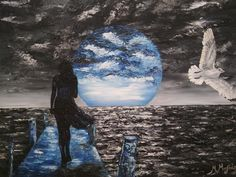 Original Artwork, Mixed Media, Facebook, Gallery, Artist, Outdoor, Painting, The Moon, Outdoors