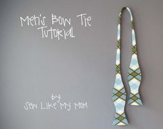 Men's Bow Tie Tutorial from sewlikemymom.com. I didn't realize bow ties were this simple. I wonder if Wil would wear it?
