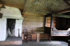 Lågdalsmuseet. Interiør fra Eiestua.