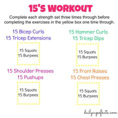 15s workout