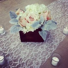 planter-box-centerpiece-with-lace-runner-meridian-ms-wedding-florist
