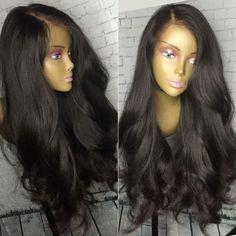 wavy human hair full lace wig