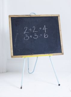 Children's Vintage Blackboard And Easel