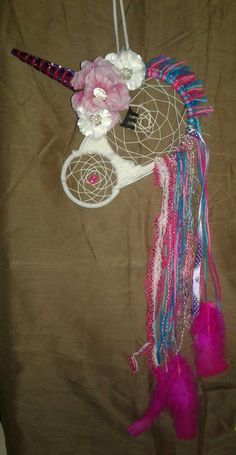 Unicorn dream catcher Visit: www.facebook.com/dreamowls2017  These sell quick wow!