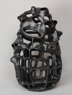 black - ceramic sculpture - Joan Lurie 2013