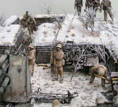 WW2 WINTER DIORAMA