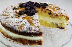 Čučoriedkový koláč s posýpkou a citrónovým mascarpone | Pečené-varené.sk