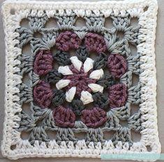 """Isoäidin neliö isoäidinneliö virkattu virkkaus malli värit """"Lily Pad"""" Granny Square - Free Crochet Pattern & Tutorial - Pasta & Patchwork"""