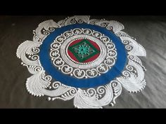 संस्कार भारती रांगोळी २०२० \ SANSKAR BHARTI RANGOLI DESIGN 2020 - YouTube Diwali Special Rangoli Design, Free Hand Rangoli Design, Rangoli Designs Diwali, Diwali Rangoli, Rangoli Borders, Rangoli Border Designs, Colorful Rangoli Designs, Beautiful Rangoli Designs, Small Rangoli