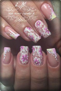 Фотография Pretty Nail Designs, Colorful Nail Designs, Acrylic Nail Designs, Glitter Nail Art, Gel Nail Art, Nail Art Diy, French Manicure Nails, Finger Nail Art, Rose Gold Nails