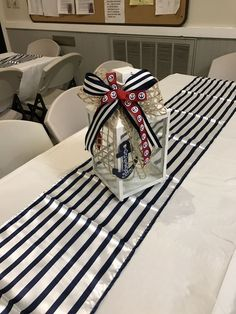 The Argument About Nautical Theme Party Centerpieces Decor Ideas Not to mention it may be used later as a decoration in your residence! Needless to sa. Sailor Baby Showers, Anchor Baby Showers, Nautical Bridal Showers, Baby Shower Decorations For Boys, Baby Shower Themes, Baby Boy Shower, Nautical Theme Baby Shower, Nautical Decor Party, Nautical Baptism