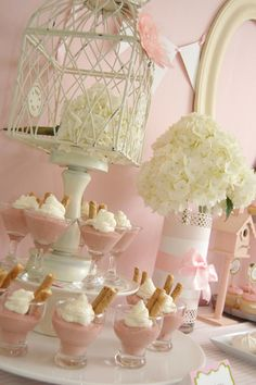 "Baby Shower/Sip & See ""Little Pink Birdies"""