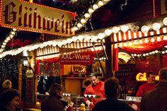 Christmas Market in Germany  Gluhwein vendor