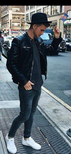 John Todd, Leather Men, Leather Jacket, Mode Man, Semi Casual, Hot Guys, Men's Fashion, Boys, Jackets