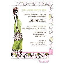 47 best pregnant baby bump invitations images on pinterest couples pregnant momma baby shower invitation silhouette baby bump brown hair maxi dress in green from filmwisefo