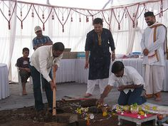 The smart property buyers break the ground at the Bhoomi Poojan of UrbanGram Chakan Pune Property Buyers, Pune, People, Home Decor, Decoration Home, Room Decor, People Illustration, Home Interior Design, Folk