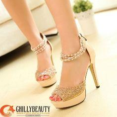 Pretty Gold Heels