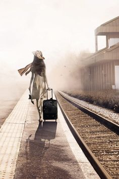 She takes the next train and disappears into the smoke...?