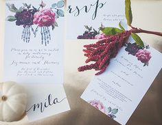 Creative Flow Co. :: Custom Wedding Invitation Suite. Day of the Dead Wedding Inspiration