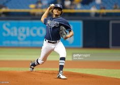 Cleveland Indians v Tampa Bay Rays   Getty Images Mlb Players, Tampa Bay Rays, Cleveland Indians, Archer, Pitch, Sterling Archer
