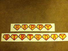 Super Hero Party Banner