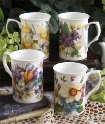 Heirloom Spring Garden English Bone China Mug Set available at www.teapotsnmore.com