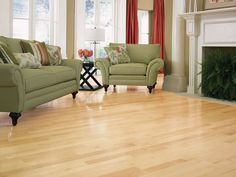 Natural maple flooring by Mullican Flooring. www.mullicanflooring.com