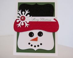 Stampin Up Merry Christmas Snowman