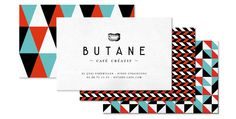 butane Branding corporate design stationary business card minimal pattern grid graphic design
