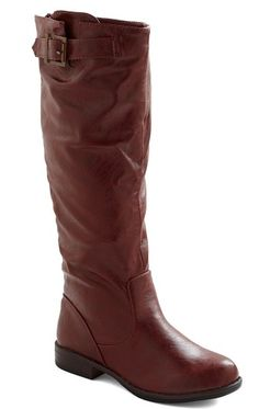 tall, brown leather riding boots