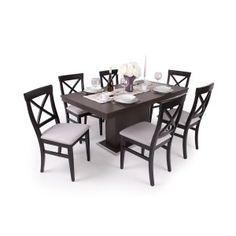 Adria szék Flóra asztallal wenge Outdoor Furniture Sets, Outdoor Decor, Dining Table, Modern, Home Decor, Trendy Tree, Decoration Home, Room Decor, Dinner Table