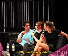 """""""My husband, yeah. The 100 Cast, The 100 Show, The 100 Quotes, Tv Quotes, A Little Chaos, 100 Memes, Ship Names, Bob Morley, Eliza Taylor"""