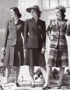 Resultado de imagen para moda años 1940