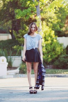skirt: c/oRomwe   shirt: Gap    jacket: c/oLucca Couture(image:outofabook)