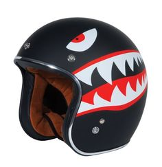 TORC T50 Route66 Retro Style Open Face Flying Tiger Helmet TORC T50 Route66 retro style open face helmet. Light weight ABS shell. Washable, removable ultra-suede inner comfort padding. Flying Tiger graphic. Comes with a removable 3 snaps sun visor 3/4. Dot certified. Weight 3.4lbs