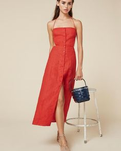 Pin for Later: The 16 Best Things to Shop at Reformation Right Now  Reformation Manon Open Back Dress ($198)