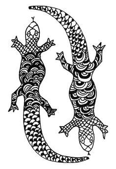 Ying Yang Lizards – NaNé Art & Prints
