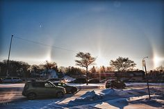 Sun dog or sundog this morning January 2013 around Sun Dogs, Thumbs Up Sign, Bus Stop, Go Outside, Pictures Of You, The Outsiders, January, Journey, Canada