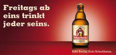... immer schön, die Werbung von Schultheiss aus Berlin