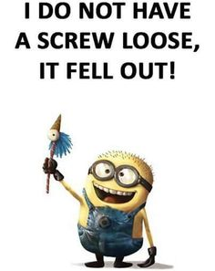 Funny pictures minions gift ideas Ideas for 2019 Funny Minion Pictures, Funny Minion Memes, Minions Quotes, Funny Jokes, Funny Cute, Haha Funny, E Cards, Minion Gifts, Thing 1