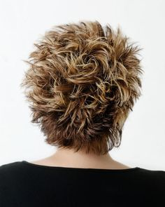 Hair Beauty - Back view a 3 color foil with a textured cut by Mane Attraction Hair Studio, Collinsville Il. Funky Short Hair, Short Hair With Layers, Short Hair Cuts For Women, Layered Hair, Short Choppy Hair, Short Spiky Hairstyles, Short Haircut Styles, Medium Hair Cuts, Medium Hair Styles