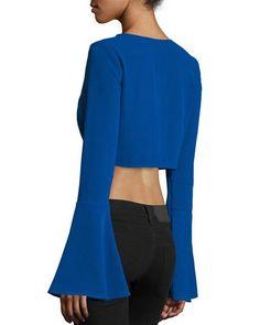de4c66ec44abbc Kendall + Kylie Bell-Sleeve Crop Top