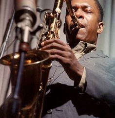 JOHN COLTRANE. A different sound. A new kind of passion.