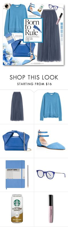 """Work Hard, Play Hard: Finals Season"" by southindianmakeup1990 ❤ liked on Polyvore featuring Needle & Thread, J.W. Anderson, SJP, Leuchtturm1917, Cutler and Gross and Eyeko"