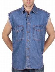 3x Designer Men's Clothes Mens Dark Blue Cut Off