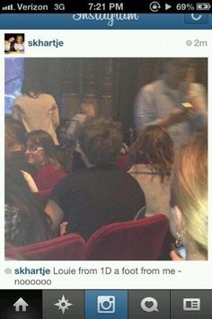 Louis and Eleanor watching 'Elf' on Broadway! Hello it is pronounced Louie but isn't spelled that way! Louis And Eleanor, One Direction Music, Eleanor Calder, The Girlfriends, Louis Williams, 1d And 5sos, Louis Tomlinson, Boys Who, That Way