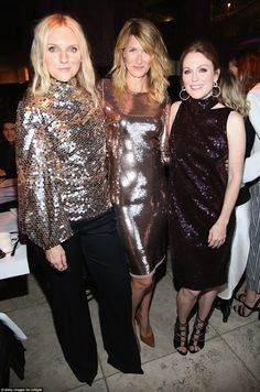 All that glitters:Editor In Chief Laura Brown cosied up to actors Julianne Moore and Laura Dern